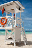 Beach life-saving hillock Royalty Free Stock Photo