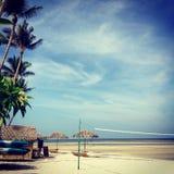 Koh Samui Thailand. Valley ball net on the beach Stock Image