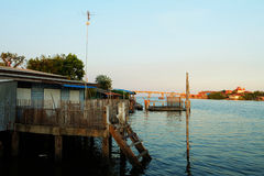 Beside Beach Life Village. Bang Ta Boon Estuary, Phetchaburi, Thailand Stock Images