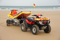 Beach Lifeguard rescue bike. Cornwall, England. October 2011 Stock Images
