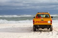 Beach Lifeguard Vehicle Royalty Free Stock Photography