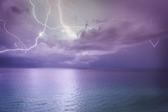 Beach Lightening Royalty Free Stock Photo