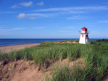 Beach Lighthouse. On Prince Edward Island Canada Royalty Free Stock Photos