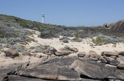 Beach with Lighthouse  Augusta Western Australia Royalty Free Stock Photography