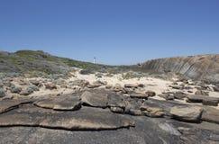 Beach with Lighthouse  Augusta Western Australia Stock Photo