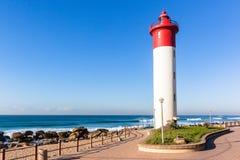 Beach Lighthouse Ocean Horizon Landscape Royalty Free Stock Photos