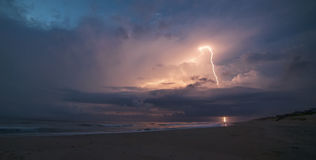 Beach Lightning Stock Photography