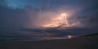 Beach Lightning Stock Photography