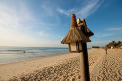 Beach lights on vacation resort Royalty Free Stock Photo