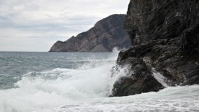 Beach on the Ligurian Sea Royalty Free Stock Image