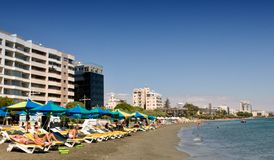 Beach in Limassol Royalty Free Stock Photos