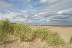 Beach in Lincolnshire,UK Stock Photo