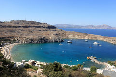 Beach of Lindos Stock Image