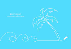 Beach line desing. Royalty Free Stock Photos