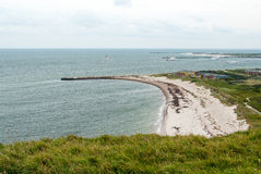 Beach line of Heligoland, North sea Stock Images
