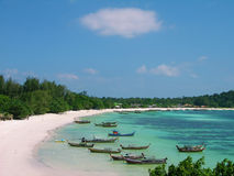 Beach of Lipe island in Andaman sea, Thailand Royalty Free Stock Images