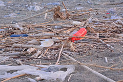 Beach litter Royalty Free Stock Photos