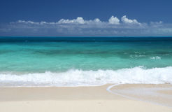 A beach of Little Exuma, Bahamas Stock Photos