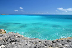 A beach of Little Exuma, Bahamas Royalty Free Stock Images
