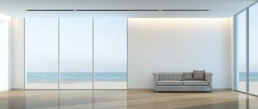 Beach living room Stock Image