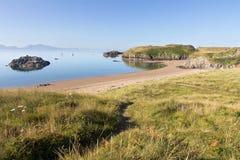 Beach on Llanddwyn Island, Anglesey Stock Photo