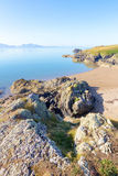 Beach on Llanddwyn Island, Anglesey royalty free stock photo