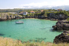 Beach in Llanes, Spain Stock Photo