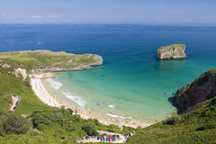 Beach in Llanes, Spain Stock Photography