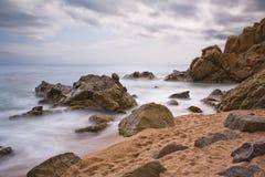 Beach in Lloret de Mar Royalty Free Stock Photo
