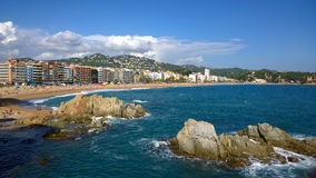 Beach of Lloret de Mar, Catalonia, Spain Stock Photo