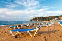 Beach of LLoret de Mar Costa Brava Spain Royalty Free Stock Photos