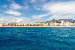 Beach of LLoret de Mar Costa Brava Spain Royalty Free Stock Images