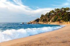 Beach of LLoret de Mar Costa Brava Spain Stock Images