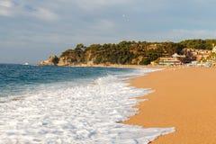 Beach of LLoret de Mar Costa Brava Spain Royalty Free Stock Image