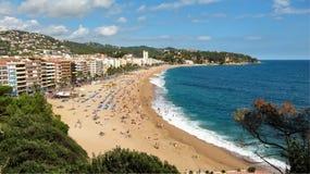 On the beach in Lloret de Mar, Spain Royalty Free Stock Photos