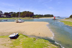 Beach of Locquirec in France Royalty Free Stock Image