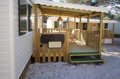 Beach lodge with a veranda. Stock Photography