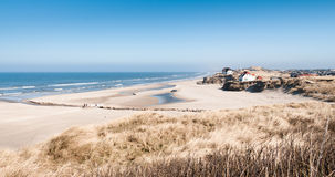 Beach in Loekken. On a spring day Stock Photography
