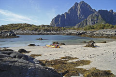 Beach at Lofoten Royalty Free Stock Photos