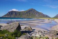 Beach on Lofoten Islands Royalty Free Stock Photo