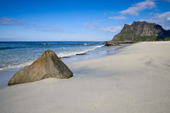 Beach on the lofoten Royalty Free Stock Photos