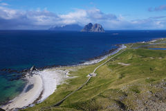 Beach on Lofoten islands Stock Image
