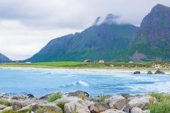 Beach in Lofoten Stock Photo