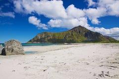 Beach on Lofoten Royalty Free Stock Photos