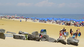 Beach at Long Branch in New Jersey Royalty Free Stock Images