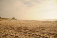 Beach on Long Island royalty free stock photos