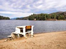 The beach at Long Lake Royalty Free Stock Images