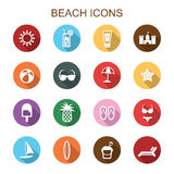 Beach long shadow icons Royalty Free Stock Photography