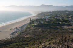 A beach in Los Angeles area. A view to a beach in Malibu Royalty Free Stock Photography