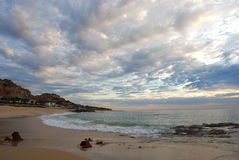 Beach Los Cabos Mexico. Early morning at the beach of Palmilla Sur LOs Cabos Mexico stock photography